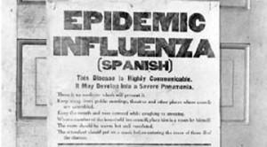 כרוז שהופץ בזמן מגפת השפעת הספרדית- לקוח מאתר historymuseum